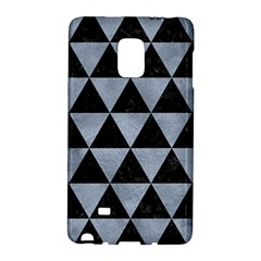 Triangle3 Black Marble & Silver Paint Galaxy Note Edge by trendistuff