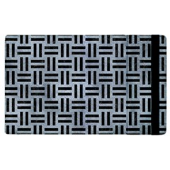 Woven1 Black Marble & Silver Paint Apple Ipad 3/4 Flip Case by trendistuff