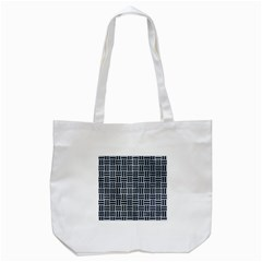 Woven1 Black Marble & Silver Paint Tote Bag (white) by trendistuff