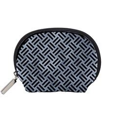 Woven2 Black Marble & Silver Paint Accessory Pouches (small)  by trendistuff