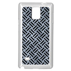 Woven2 Black Marble & Silver Paint Samsung Galaxy Note 4 Case (white) by trendistuff
