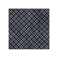Woven2 Black Marble & Silver Paint (r) Acrylic Tangram Puzzle (4  X 4 ) by trendistuff