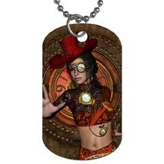 Steampunk, Wonderful Steampunk Lady Dog Tag (one Side) by FantasyWorld7