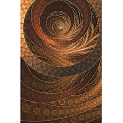 Brown, Bronze, Wicker, And Rattan Fractal Circles 5 5  X 8 5  Notebooks by beautifulfractals