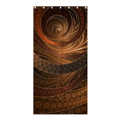 Brown, Bronze, Wicker, And Rattan Fractal Circles Shower Curtain 36  X 72  (stall)  by jayaprime