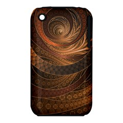 Brown, Bronze, Wicker, And Rattan Fractal Circles Iphone 3s/3gs by jayaprime