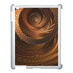 Brown, Bronze, Wicker, And Rattan Fractal Circles Apple Ipad 3/4 Case (white) by beautifulfractals
