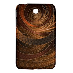 Brown, Bronze, Wicker, And Rattan Fractal Circles Samsung Galaxy Tab 3 (7 ) P3200 Hardshell Case  by jayaprime