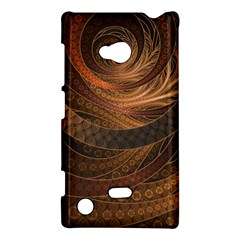 Brown, Bronze, Wicker, And Rattan Fractal Circles Nokia Lumia 720 by beautifulfractals