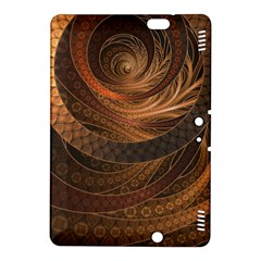Brown, Bronze, Wicker, And Rattan Fractal Circles Kindle Fire Hdx 8 9  Hardshell Case by beautifulfractals