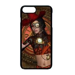 Steampunk, Wonderful Steampunk Lady Apple Iphone 7 Plus Seamless Case (black) by FantasyWorld7