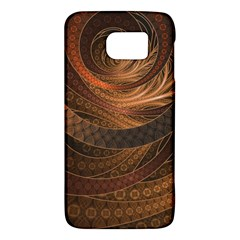 Brown, Bronze, Wicker, And Rattan Fractal Circles Galaxy S6 by beautifulfractals