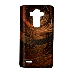 Brown, Bronze, Wicker, And Rattan Fractal Circles Lg G4 Hardshell Case by beautifulfractals