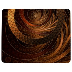 Brown, Bronze, Wicker, And Rattan Fractal Circles Jigsaw Puzzle Photo Stand (rectangular) by jayaprime