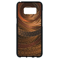 Brown, Bronze, Wicker, And Rattan Fractal Circles Samsung Galaxy S8 Black Seamless Case by beautifulfractals