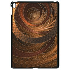 Brown, Bronze, Wicker, And Rattan Fractal Circles Apple Ipad Pro 9 7   Black Seamless Case by jayaprime