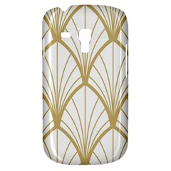 Art Deco, Beautiful,fan Pattern, Gold,white,vintage,1920 Era, Elegant,chic,vintage Galaxy S3 Mini by 8fugoso