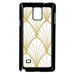 Art Deco, Beautiful,fan Pattern, Gold,white,vintage,1920 Era, Elegant,chic,vintage Samsung Galaxy Note 4 Case (black) by 8fugoso