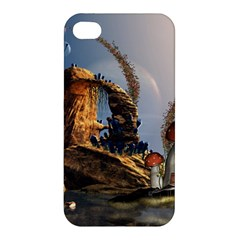 Wonderful Seascape With Mushroom House Apple Iphone 4/4s Hardshell Case by FantasyWorld7