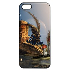 Wonderful Seascape With Mushroom House Apple Iphone 5 Seamless Case (black) by FantasyWorld7