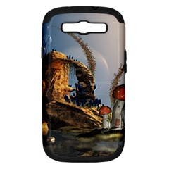 Wonderful Seascape With Mushroom House Samsung Galaxy S Iii Hardshell Case (pc+silicone) by FantasyWorld7