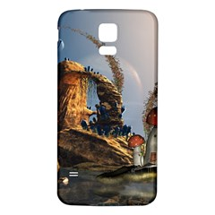 Wonderful Seascape With Mushroom House Samsung Galaxy S5 Back Case (white) by FantasyWorld7