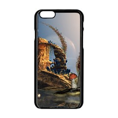 Wonderful Seascape With Mushroom House Apple Iphone 6/6s Black Enamel Case by FantasyWorld7