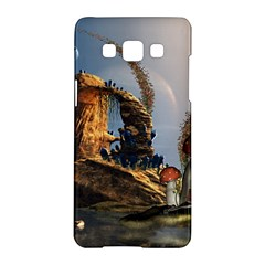 Wonderful Seascape With Mushroom House Samsung Galaxy A5 Hardshell Case  by FantasyWorld7