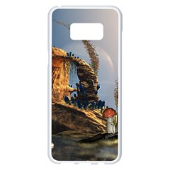 Wonderful Seascape With Mushroom House Samsung Galaxy S8 Plus White Seamless Case by FantasyWorld7