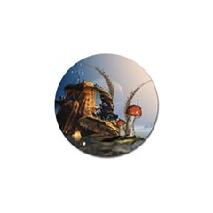 Wonderful Seascape With Mushroom House Golf Ball Marker (10 Pack) by FantasyWorld7