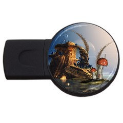 Wonderful Seascape With Mushroom House Usb Flash Drive Round (2 Gb) by FantasyWorld7