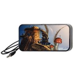 Wonderful Seascape With Mushroom House Portable Speaker by FantasyWorld7