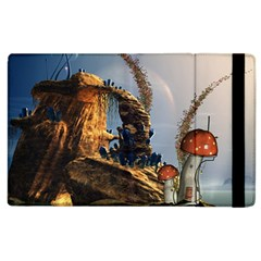 Wonderful Seascape With Mushroom House Apple Ipad 3/4 Flip Case by FantasyWorld7