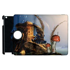 Wonderful Seascape With Mushroom House Apple Ipad 3/4 Flip 360 Case by FantasyWorld7