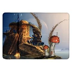 Wonderful Seascape With Mushroom House Samsung Galaxy Tab 8 9  P7300 Flip Case by FantasyWorld7