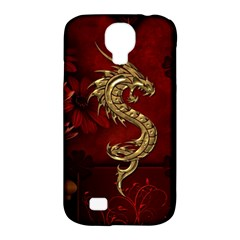 Wonderful Mystical Dragon, Vintage Samsung Galaxy S4 Classic Hardshell Case (pc+silicone) by FantasyWorld7