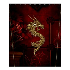 Wonderful Mystical Dragon, Vintage Shower Curtain 60  X 72  (medium)  by FantasyWorld7