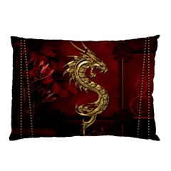 Wonderful Mystical Dragon, Vintage Pillow Case (two Sides) by FantasyWorld7