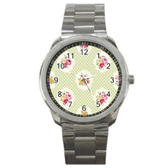 Green Shabby Chic Sport Metal Watch by 8fugoso