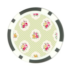 Green Shabby Chic Poker Chip Card Guard by 8fugoso