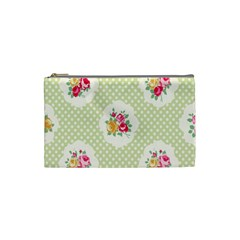 Green Shabby Chic Cosmetic Bag (small)  by 8fugoso