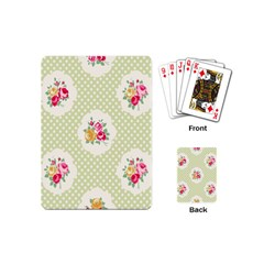 Green Shabby Chic Playing Cards (mini)  by 8fugoso