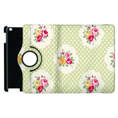 Green Shabby Chic Apple Ipad 3/4 Flip 360 Case by 8fugoso
