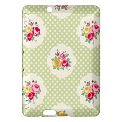 Green Shabby Chic Kindle Fire Hdx Hardshell Case by 8fugoso