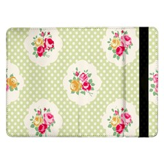 Green Shabby Chic Samsung Galaxy Tab Pro 12 2  Flip Case by 8fugoso