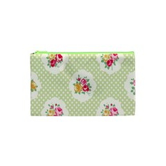 Green Shabby Chic Cosmetic Bag (xs) by 8fugoso