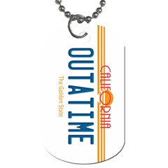 Outatime License Plate Dog Tag (two Sided)