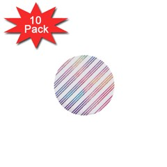 Colored Candy Striped 1  Mini Buttons (10 Pack)