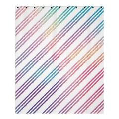 Colored Candy Striped Shower Curtain 60  X 72  (medium)  by Colorfulart23