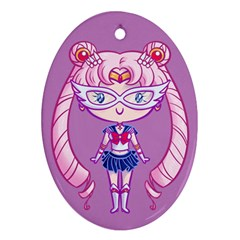 Cutie Moon Concept Oval Ornament